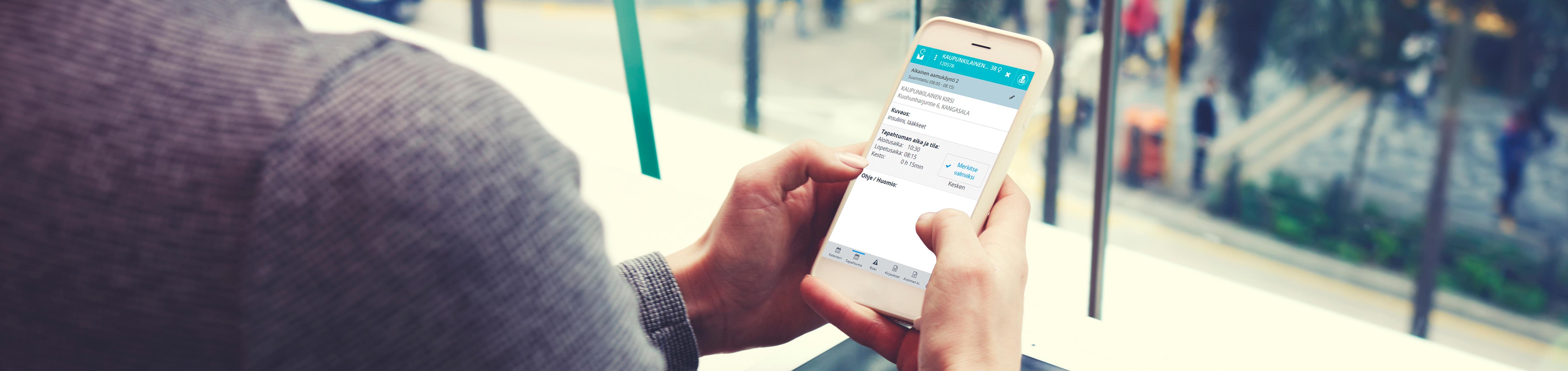 Mobiilikirjaaminen mahdollistaa kirjaamisen paikan päällä, asiakkaan luona